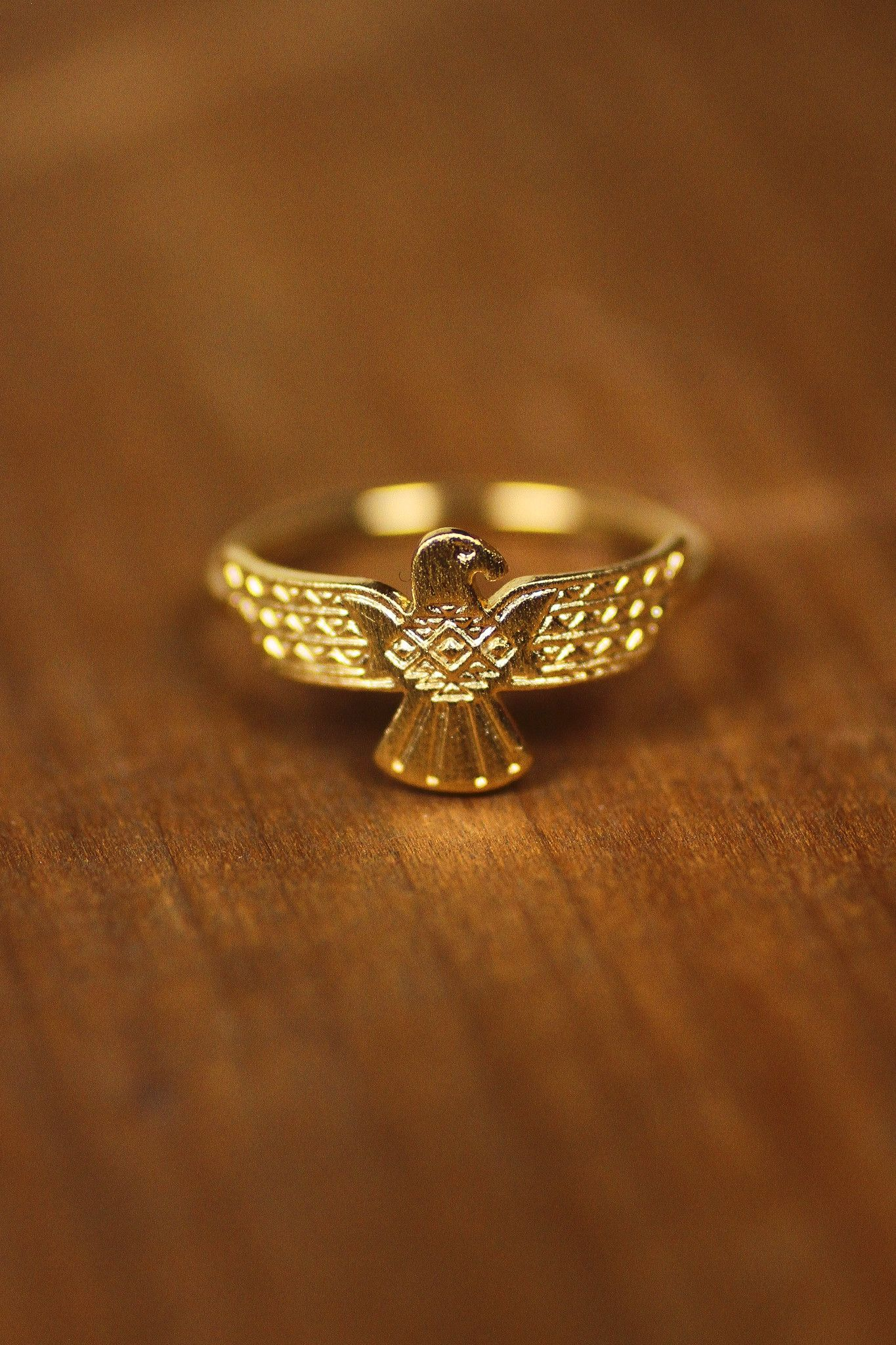 Totem Eagle Etched Ring Jewelry Pinterest