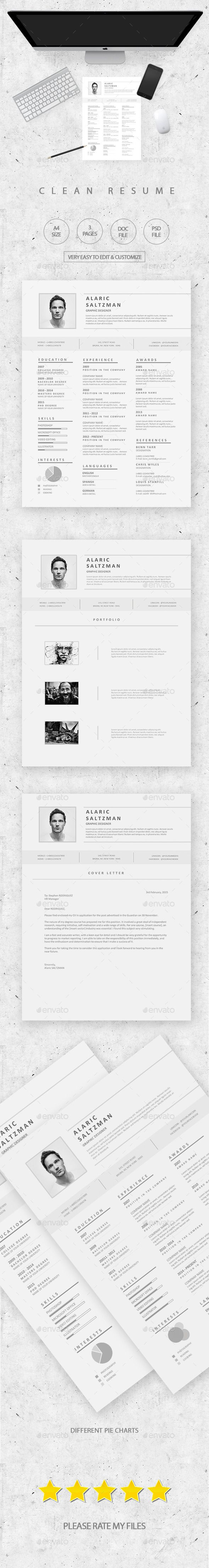 clean & simple resume - resumes stationery | good | pinterest