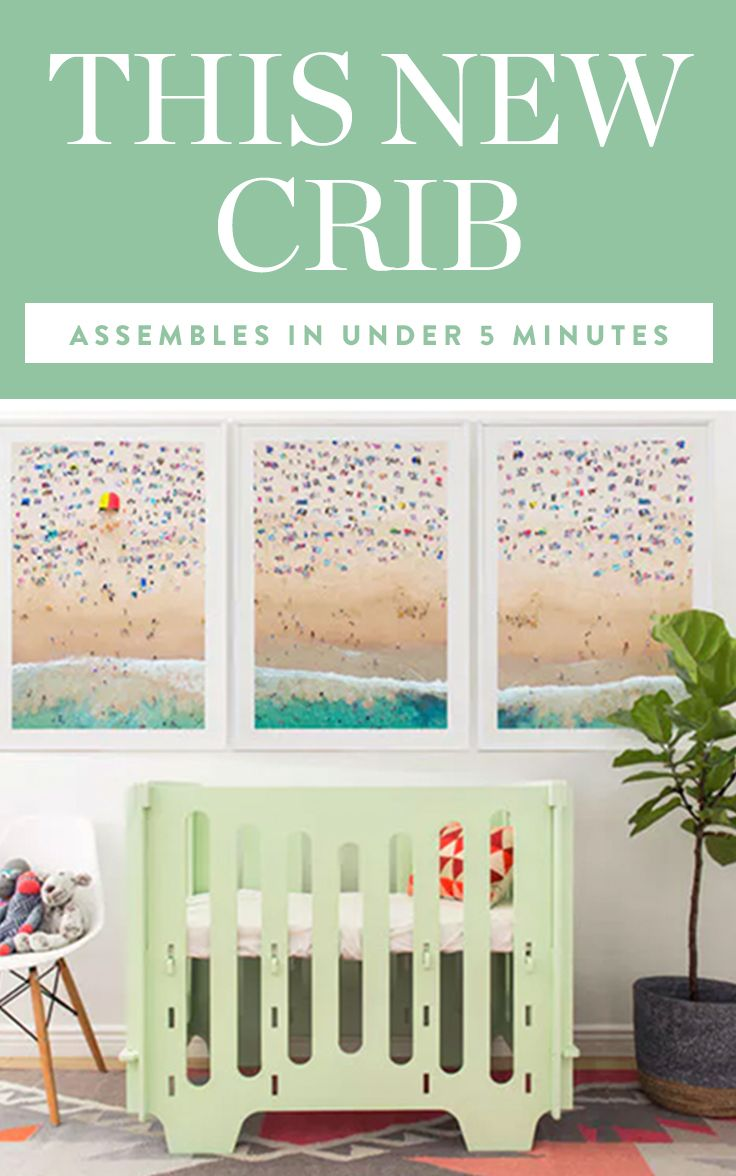 Introducing a crib that can be put together and broken down in mere minutes, requires no tools and screams Scandi chic. Yep, it's basically the crib of your dreams. #newcrib #bestcrib #babyitems #parentingtips #baby
