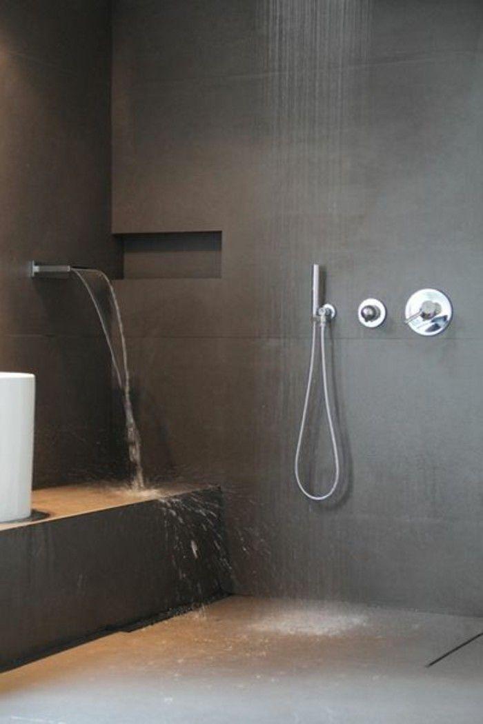 La salle de bain avec douche italienne 53 photos! Concrete and