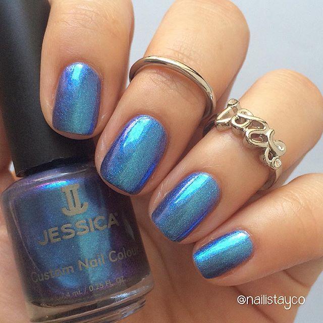 Jessica Nails Karma Collection - Krishna Blue | Blue Hues ...