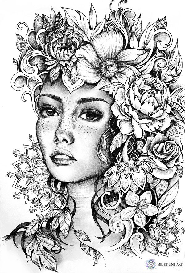 Illustration June 2016 Coloring Pages Art Work Rhpinterest: Colouring Pages Of Flowers To Print At Baymontmadison.com