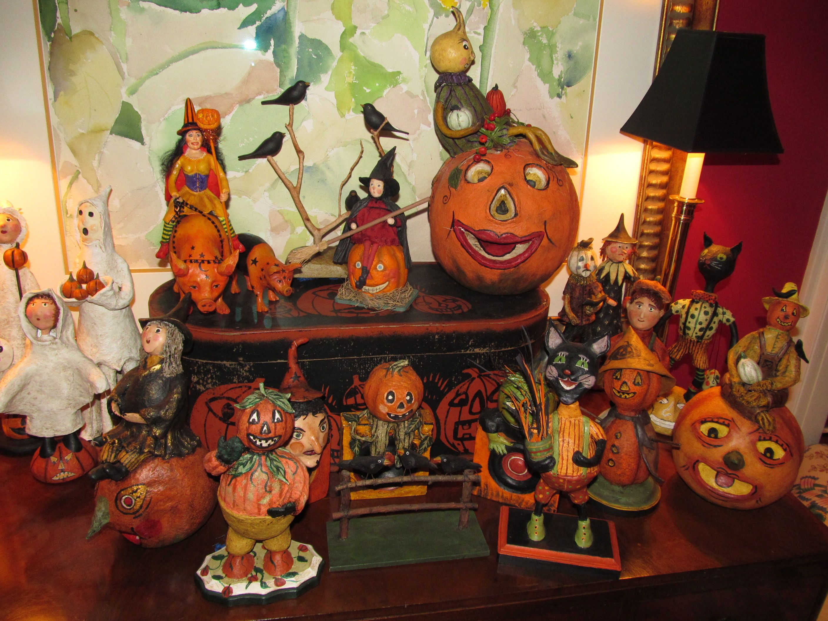 Halloween decor is TOTALLY my fav!! { H A L L O W E E N - Primitive Halloween Decor