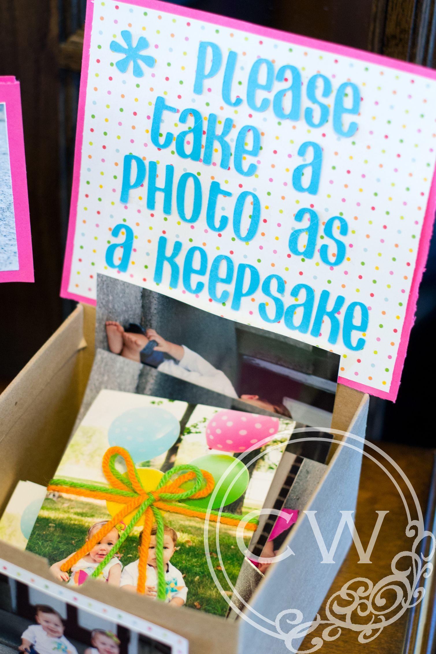 Party ideas for twins Keepsake BoyGirls Twins 1st Birthday