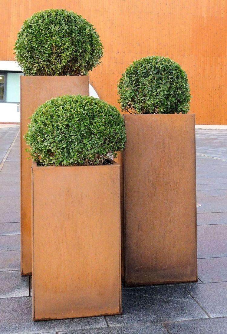 Cortenstahl Im Garten 57 Ideen Und Einsatzmoglichkeiten