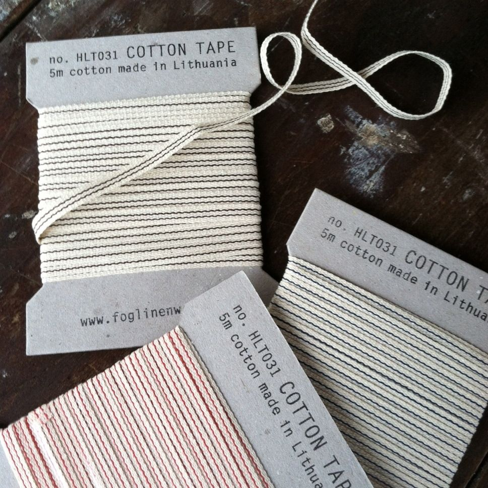 Striped Cotton Tape From Fog Linen.