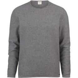 Photo of Olymp Level Five Strickpullover, Body Fit, silbergrau, M Olymp