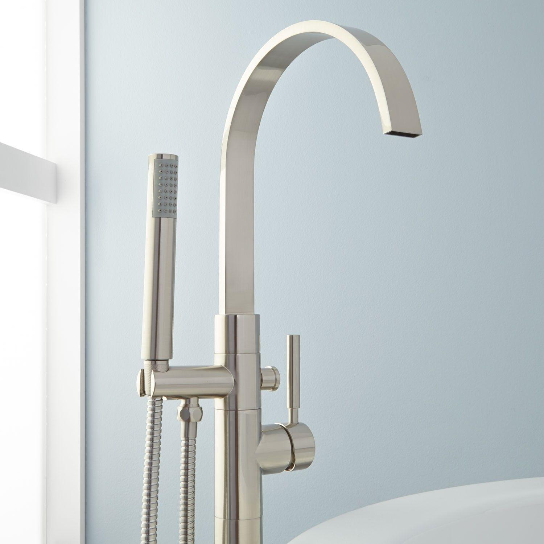 Benkei Freestanding Tub Faucet and Hand Shower | Freestanding tub ...
