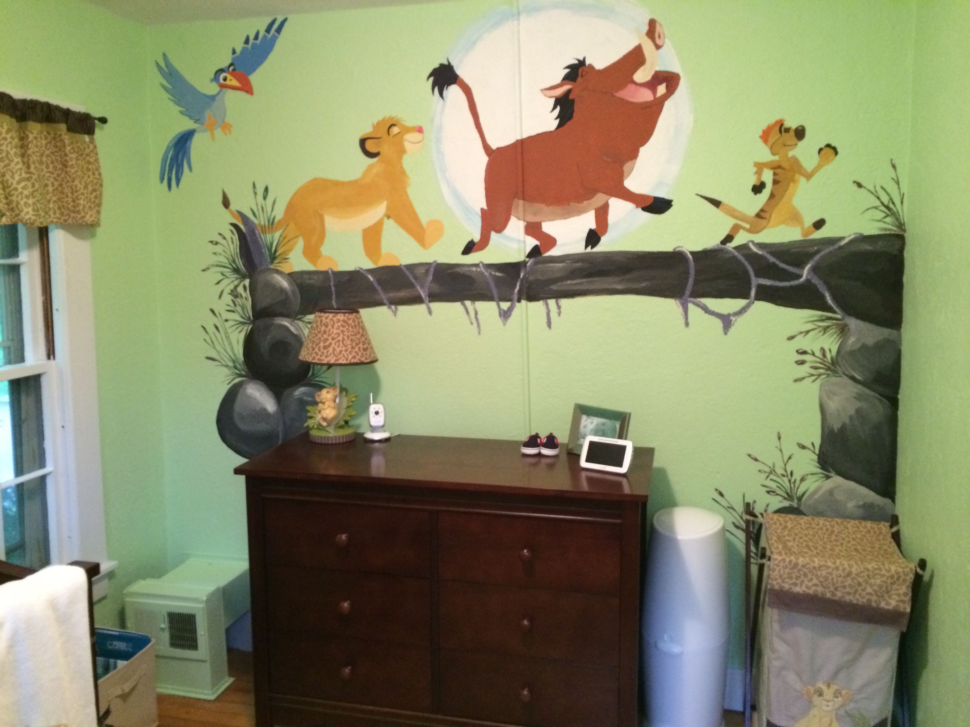Our Boys Lion King Themed Room Avec Images Chambre De Bebe Garcon