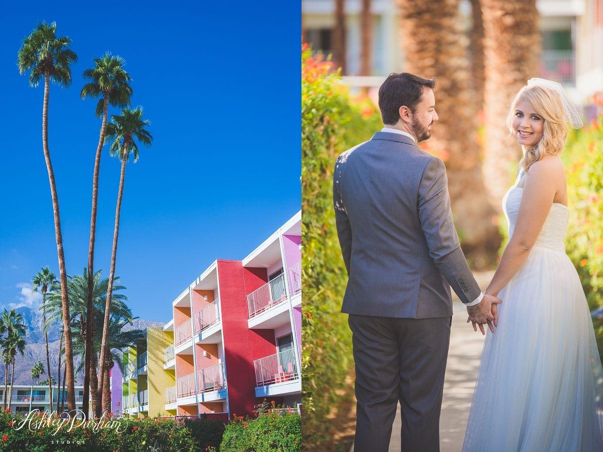 colorful wedding, colorful bridal party, palm springs wedding, saguaro hotel, saguaro hotel palm springs, saguaro wedding
