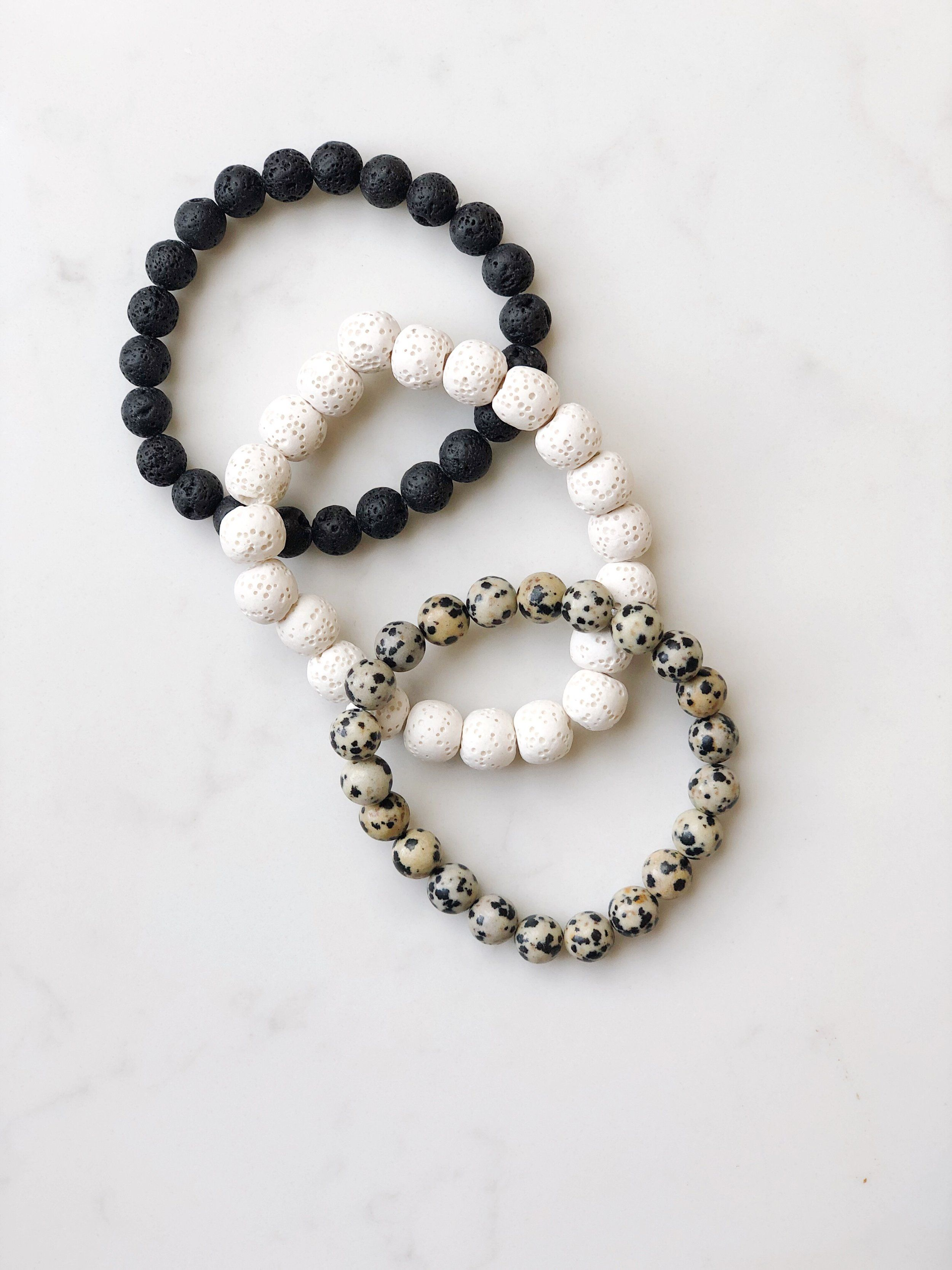 Siver Pearl Diffuser BraceletNecklace Combo