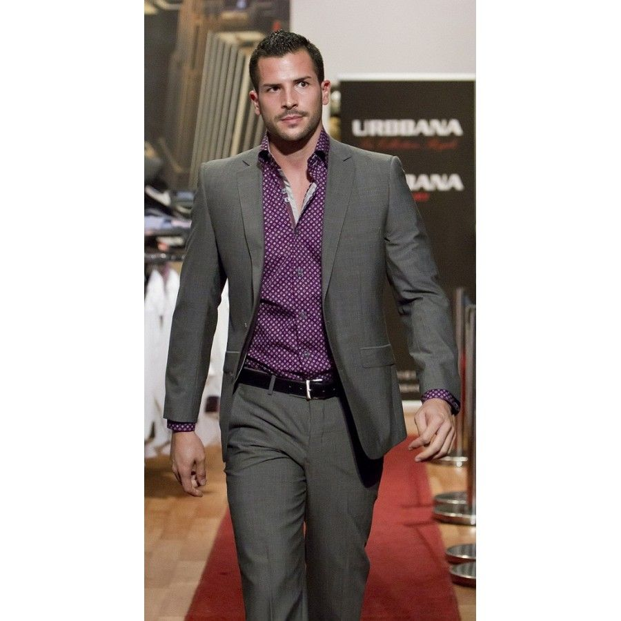 Purple seems to need to be on the list for a gray suit. | My style ...