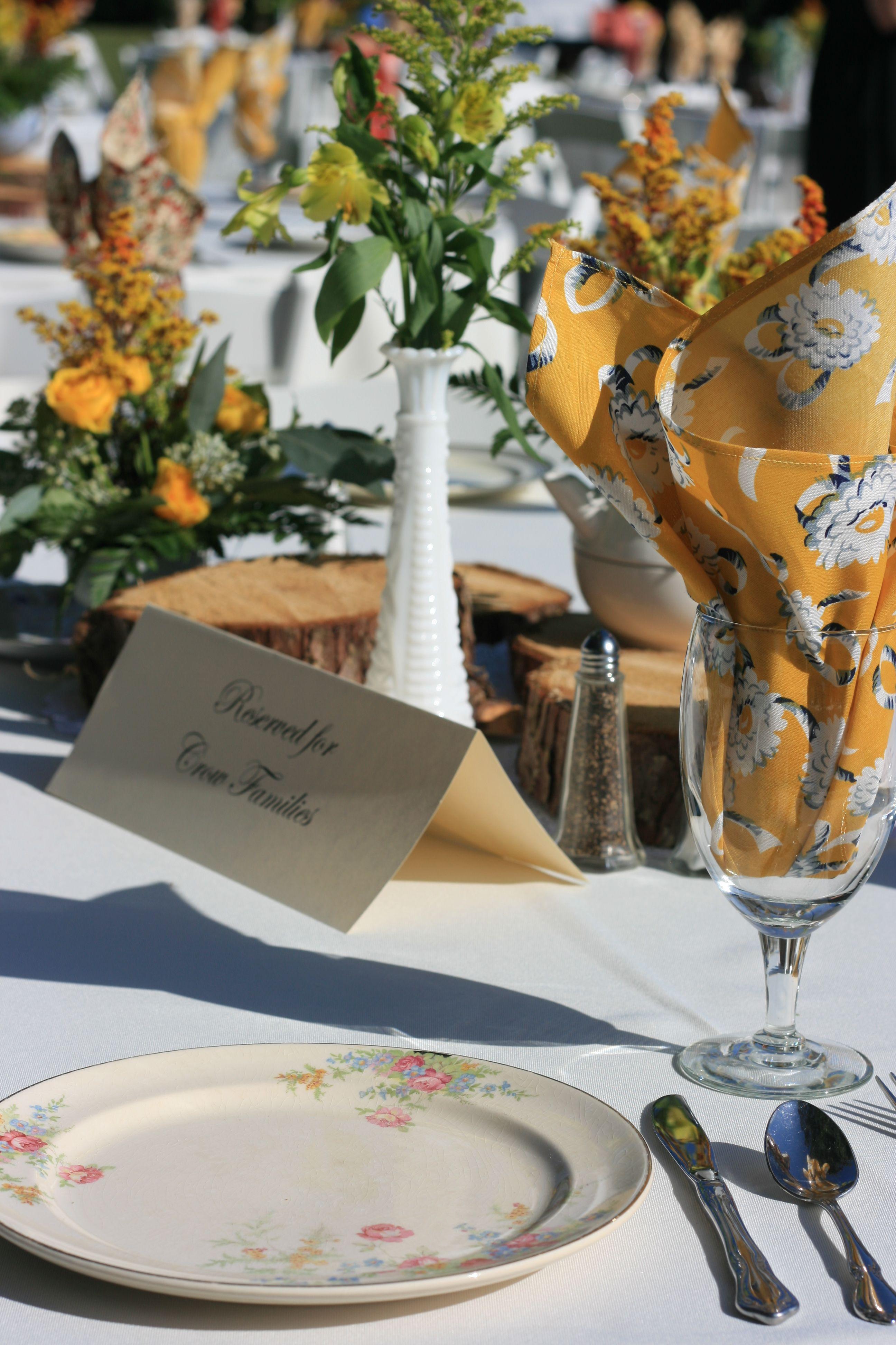 Brunch, Emily's Vintage Wedding, vintage milk glass, vintage china, vintage wedding rentals