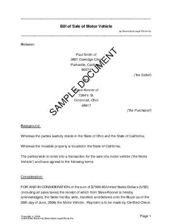 Printable Sample Bill Of Sale Alabama Form | Real Estate Forms ...