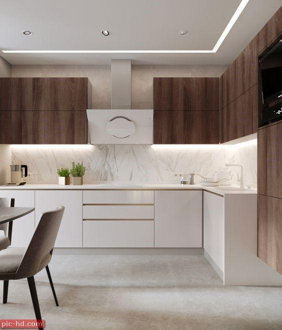 صور مطابخ حديثة تصميمات مطابخ حديثة تصميم مطبخ امريكاني Kitchen Room Design Kitchen Interior Design Decor Modern Kitchen Design