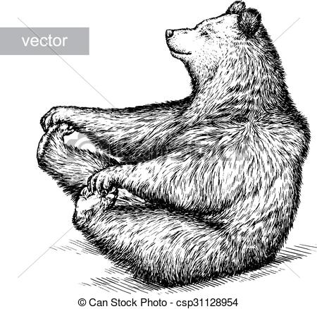Engrave Bear Illustration Vector Stock Illustration Royalty Free Illustrations Stock Clip Art Icon Stoc Bear Illustration Linear Art Illustration Sketches