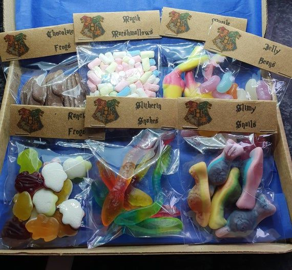 Wizard sweets,  sweet box,  secret Santa,  personalised.  Gift box, Potter, Gryffindor, birthday. #secretsantagifts