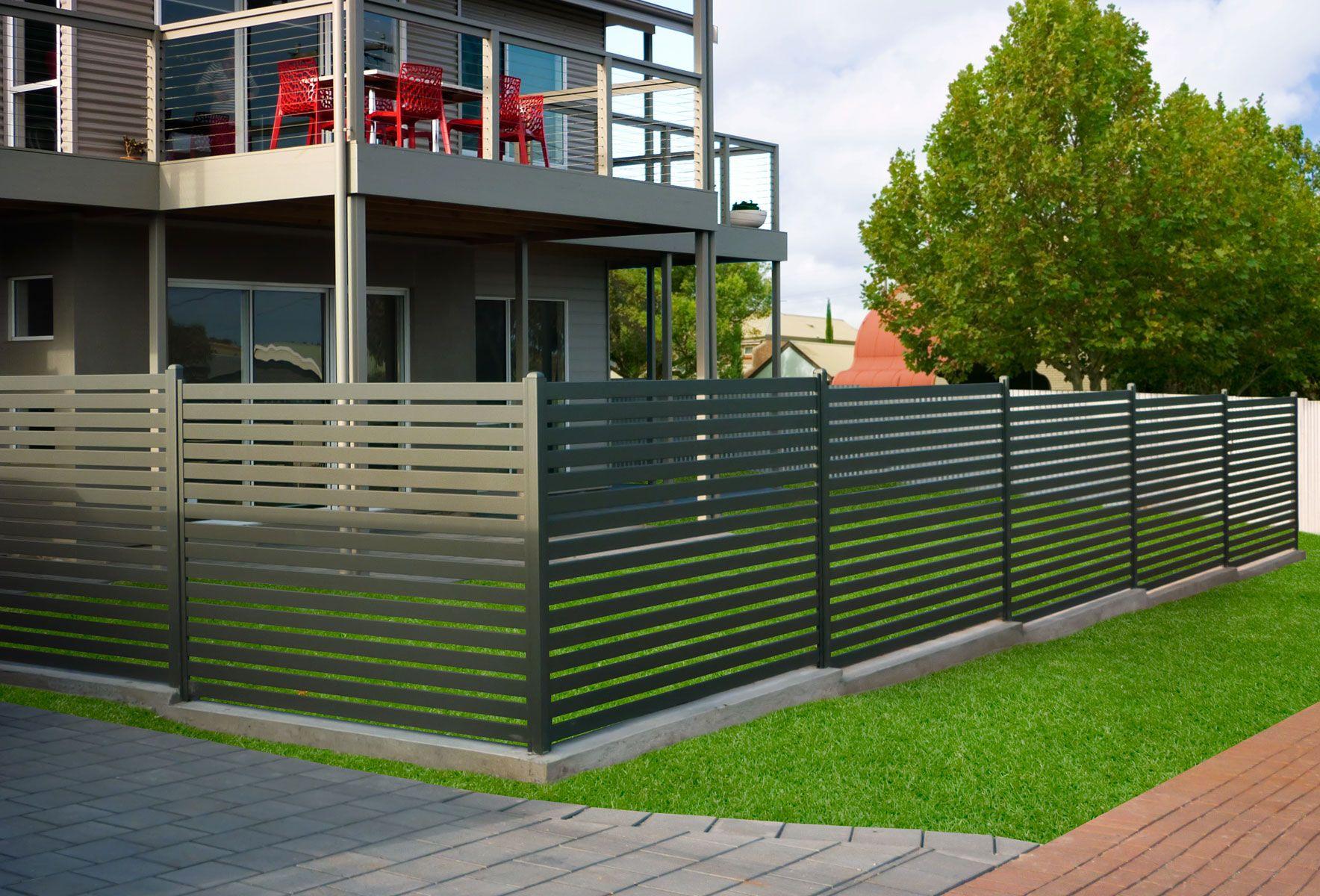 EziSlat Fencing Stratco Дизайн ограды, Заборы из