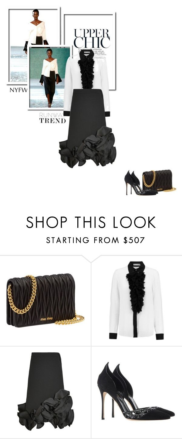 """""""Bnw"""" by theitalianglam ❤ liked on Polyvore featuring Hellessy, Miu Miu, Michael Kors, Victoria, Victoria Beckham, Sergio Rossi and NYFW"""
