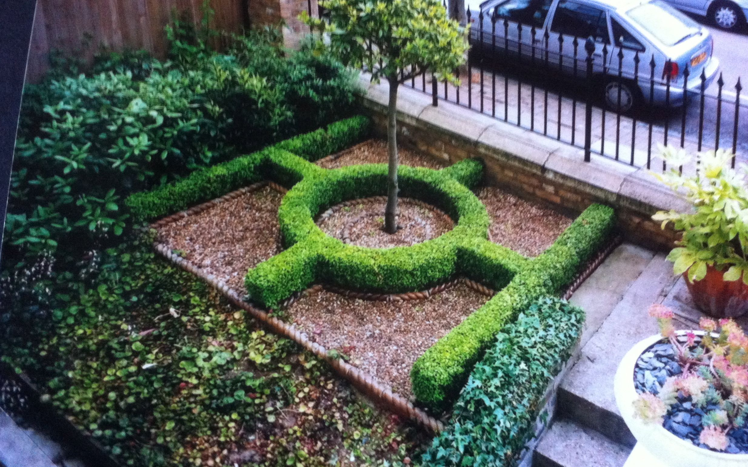 A tiny, formal front garden in south west London which I ...