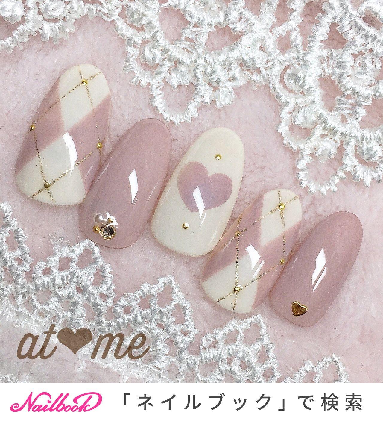 冬/バレンタイン/デート/女子会/ハンド , at meのネイルデザイン