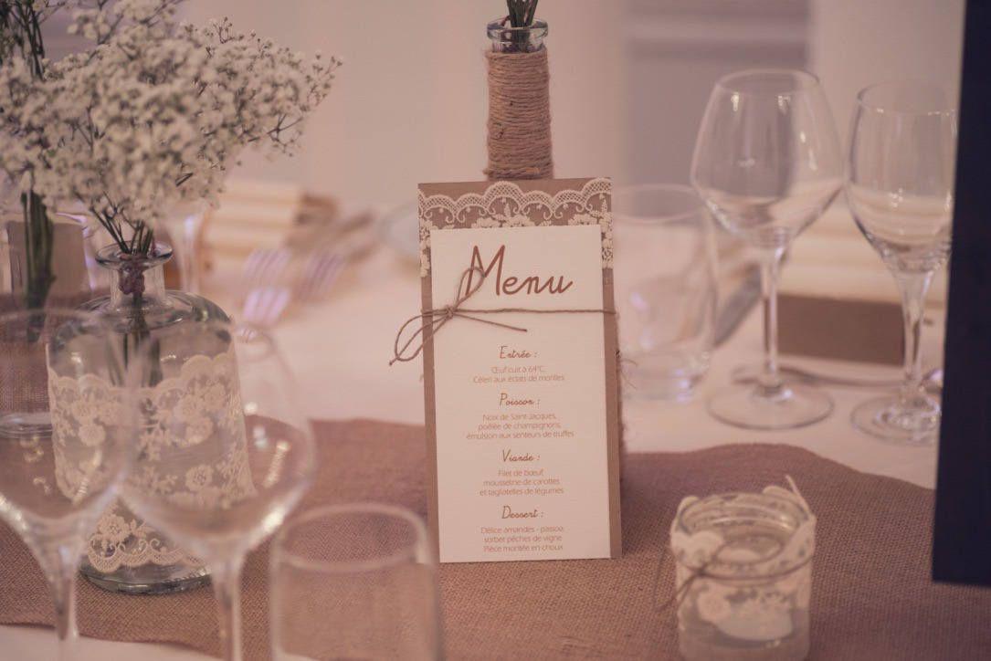 Menu range | rustic chic wedding
