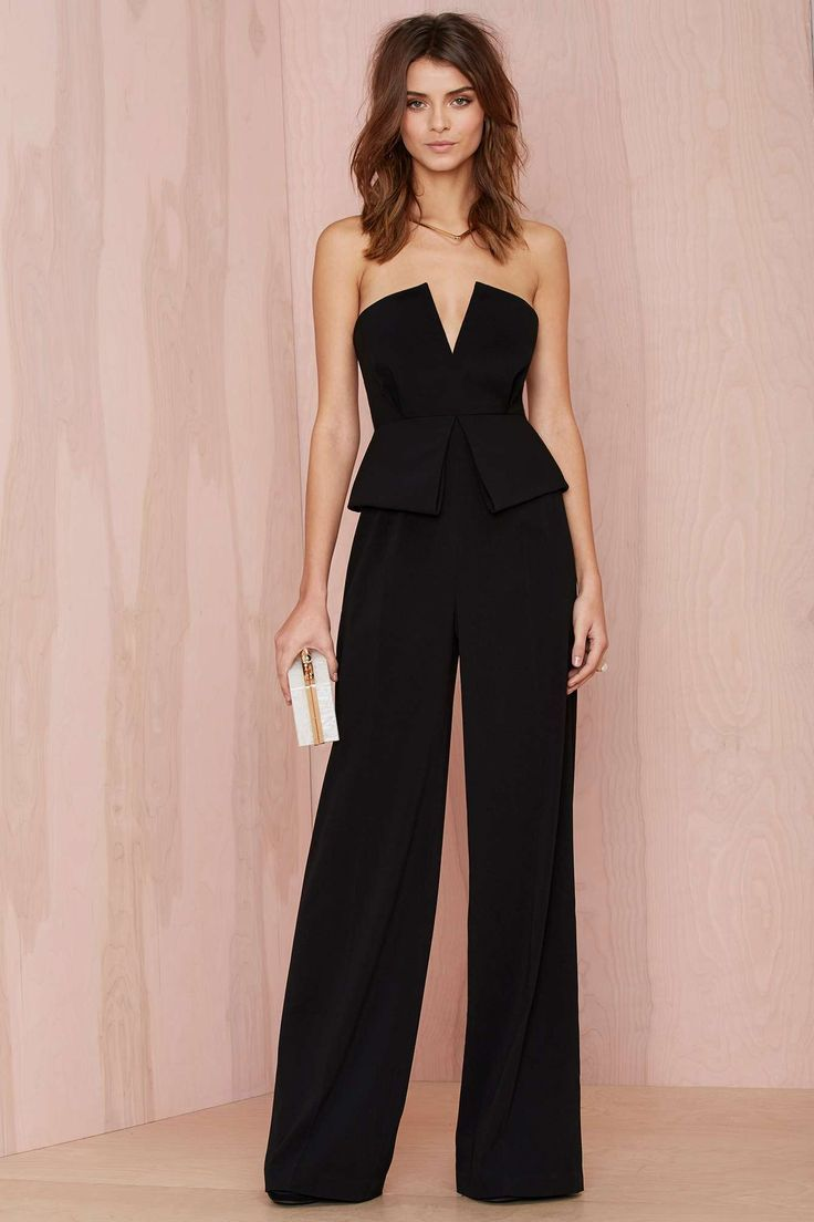 Curating Fashion & Style: Women\'s fashion | Black peplum jumpsuit ...
