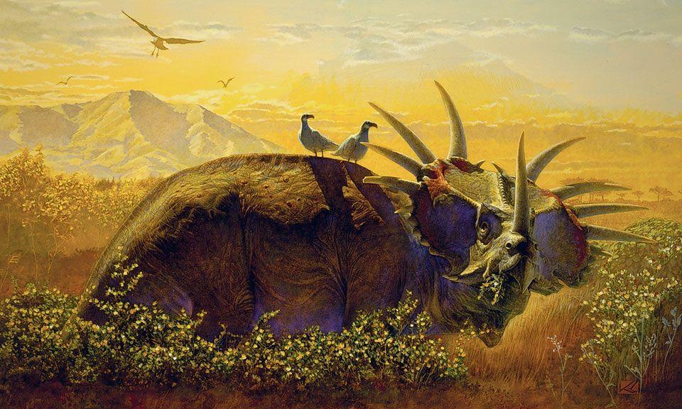 An  beautiful Styracosaurus by Kazuhiko Sano