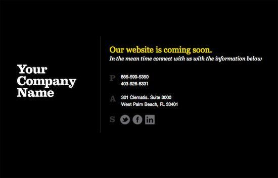 Coming Soon template | DARK NIGHT | Web Design ⁞ Coming soon Page