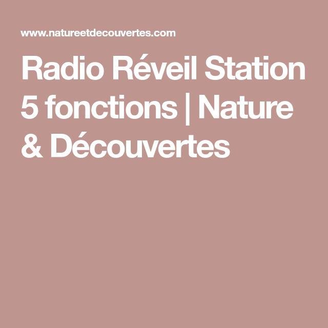 Radio Réveil Station 5 fonctions | Nature & Découvertes