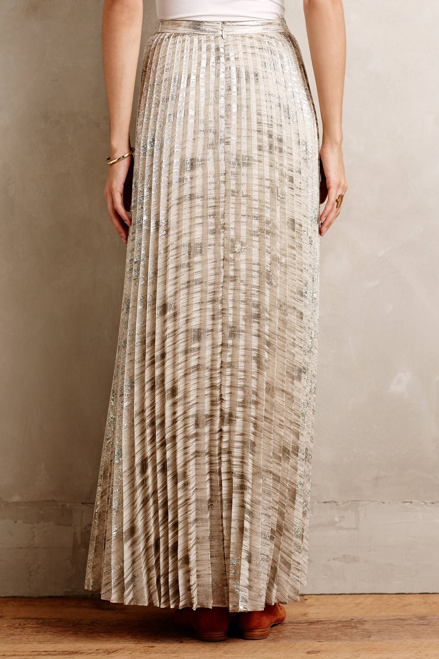 8ef4ae5140 Midlight Maxi Skirt | Threads | Long pleated maxi skirt, Brown maxi ...