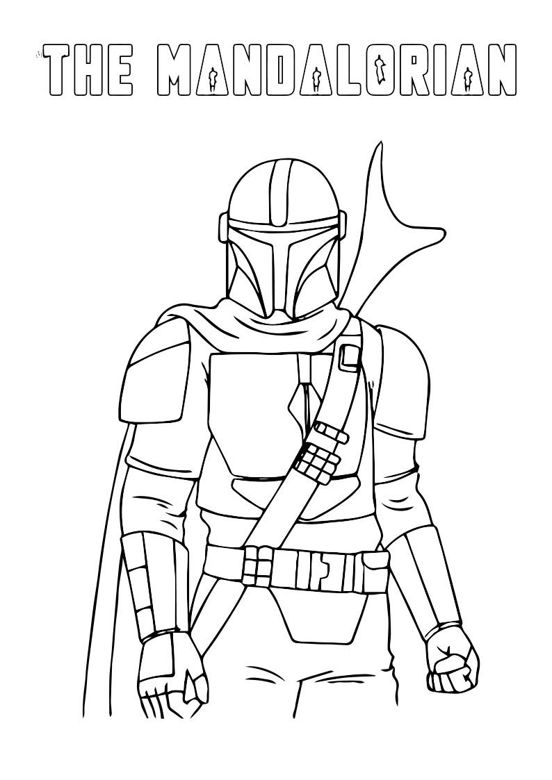 The Mandalorian Coloring Page For Kids From Tgos  Coloring pages
