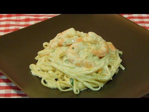 C mo hacer tallarines con langostinos a la crema youtube comida pinterest pasta good - Platos de pasta sencillos ...