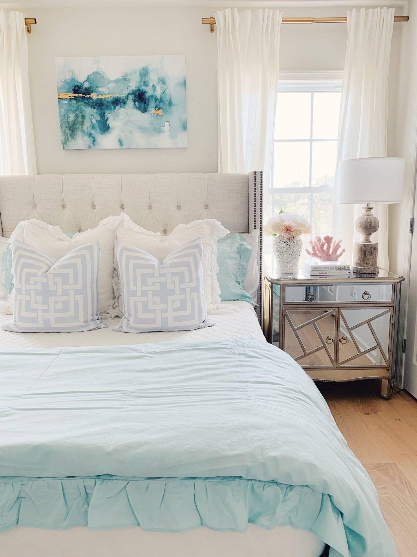Coastal Inspired Bedroom Ideas With Walmart The Pink Dream Beach Bedroom Decor Coastal Bedroom Decorating Beach House Bedroom Furniture