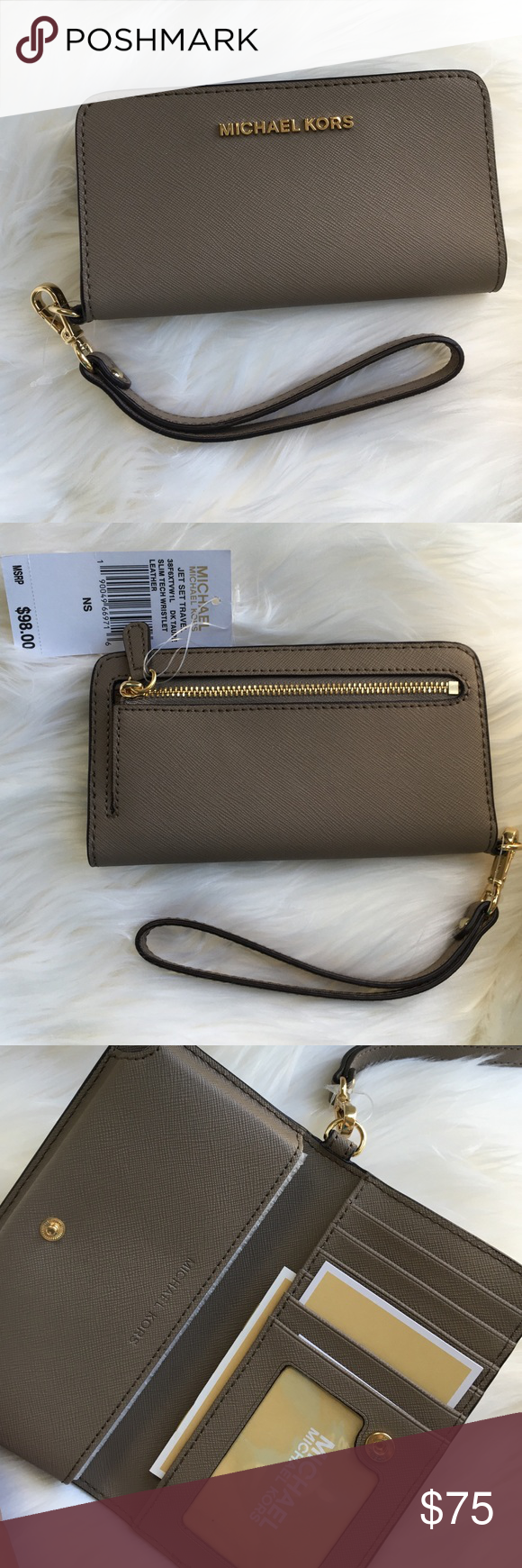 About Michael Kors Wristlets Whether getting ready for a night at the club with your girlfriends or for an anniversary dinner at your favorite fancy restaurant, a Michael Kors wristlet is the perfect accessory to complement any outfit.