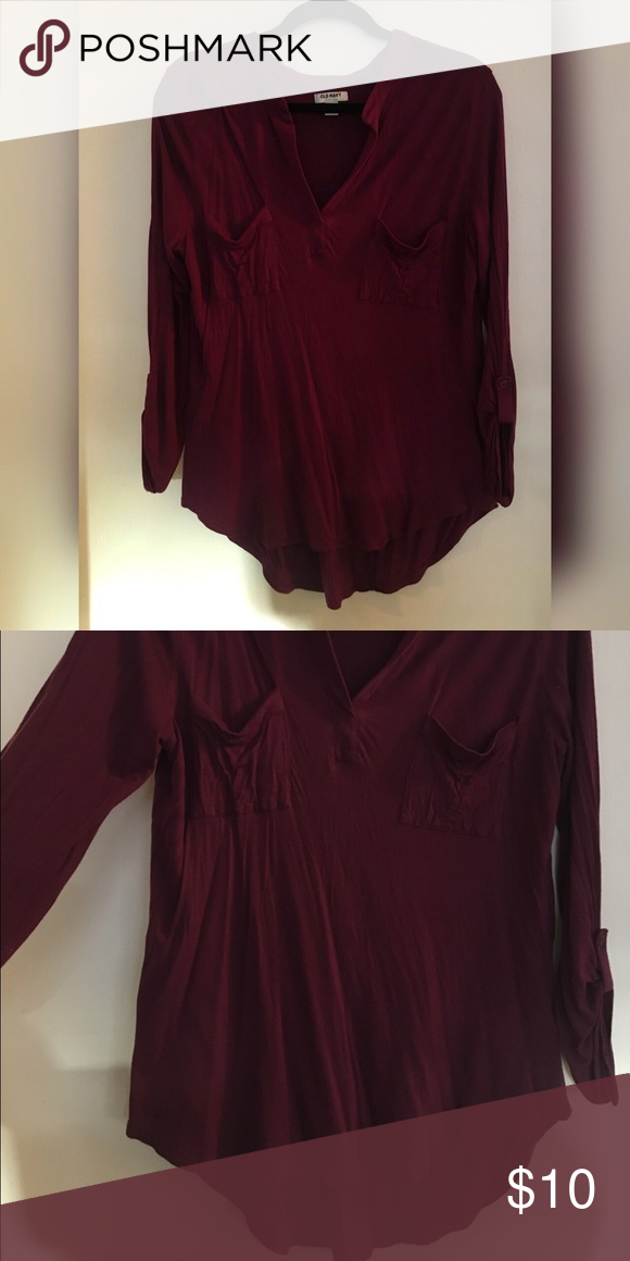 f63c47d3 Purple Women's shirt Purple half sleeve women's shirt. Size Large, with a  long V opening. Thin material, comfortable! Old Navy Tops Blouses
