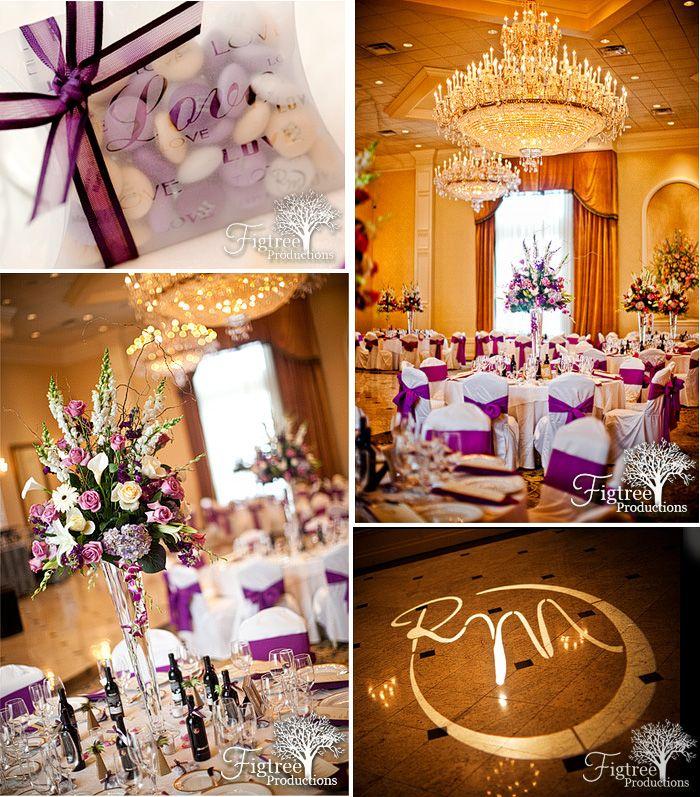 Beautiful Purple Wedding Details Photographed At Il Villaggio Ristorante In Carlstadt Nj