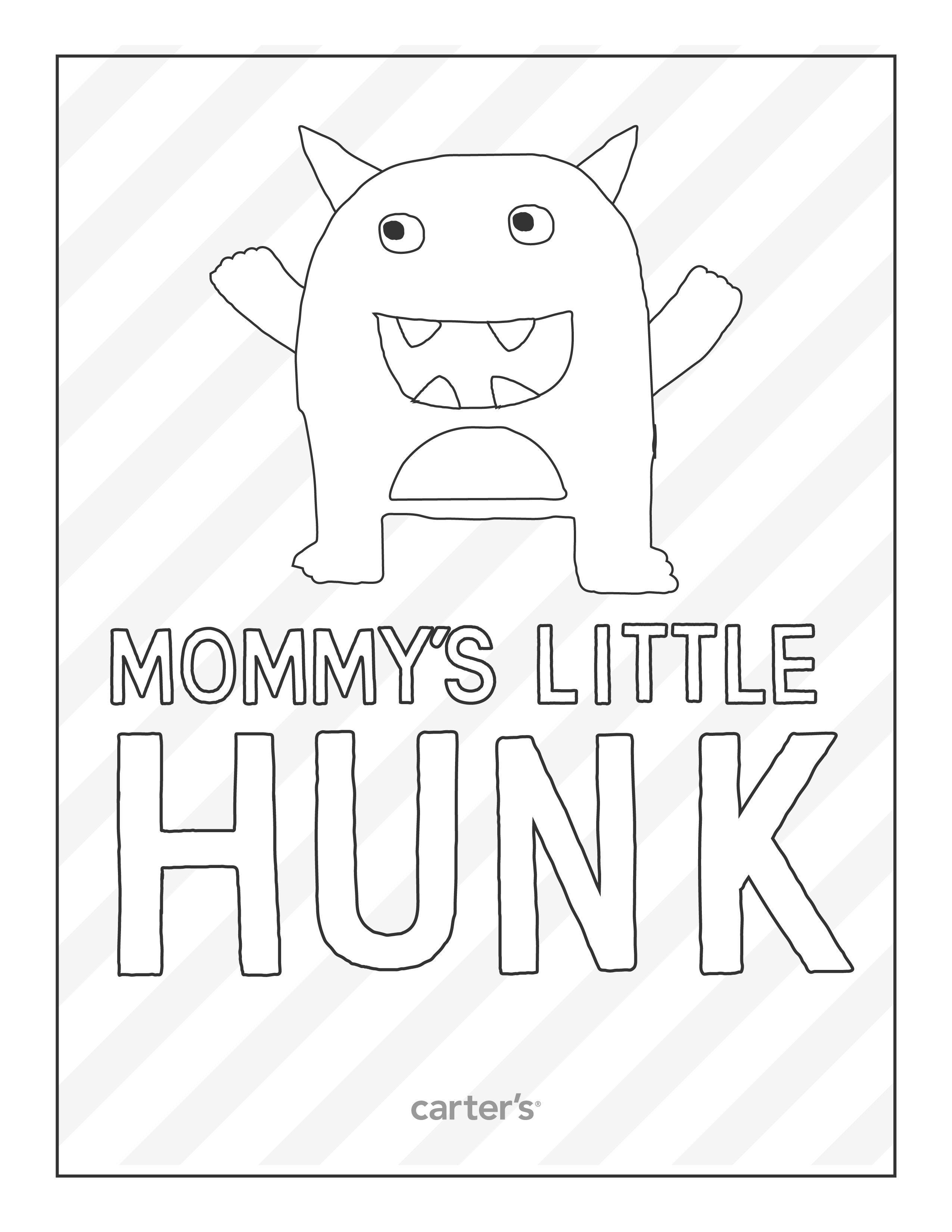 Free printable coloring page from Carter\'s for Mother\'s Day ...