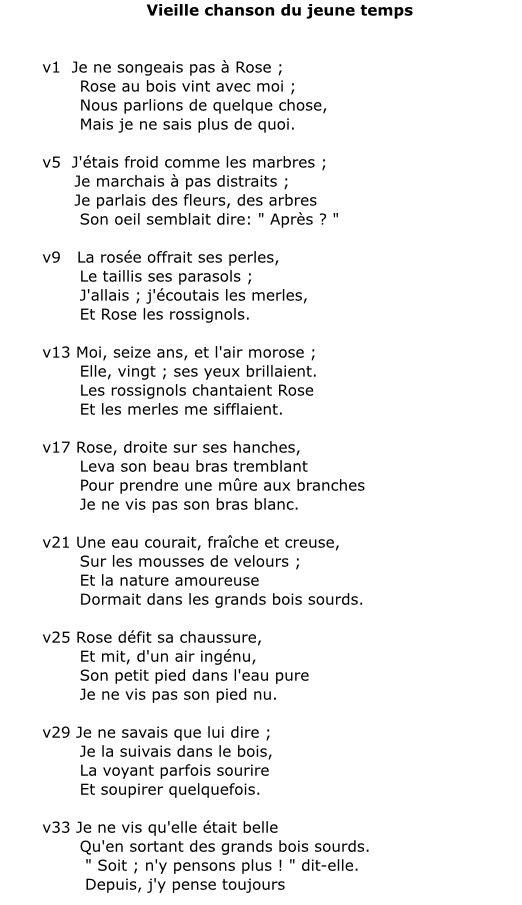 Victor Hugo. Vieille Chanson Du Jeune Temps