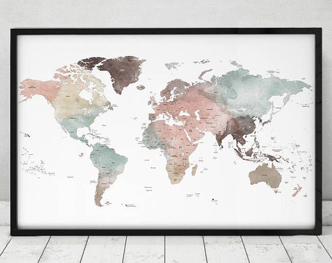 Imprimer Carte Detaillee Du Monde Vaste Monde Carte Affiche