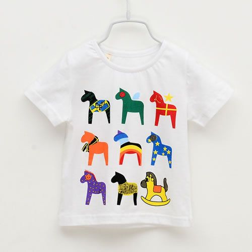 2014 Summer Boys Girls Cartoon T Shirts Kids Children Short Sleeve Cute Horse 100% Cotton Tops -in Tees from Apparel & Accessories on Aliexpress.com | Alibaba Group
