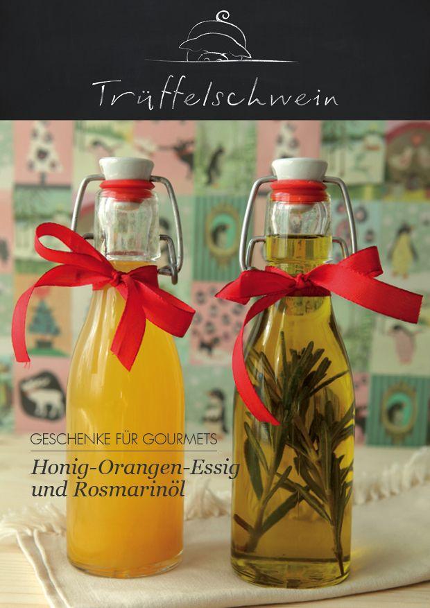 Orangen-Essig und Rosmarinöl #geschenk #weihnachten | Diy ...