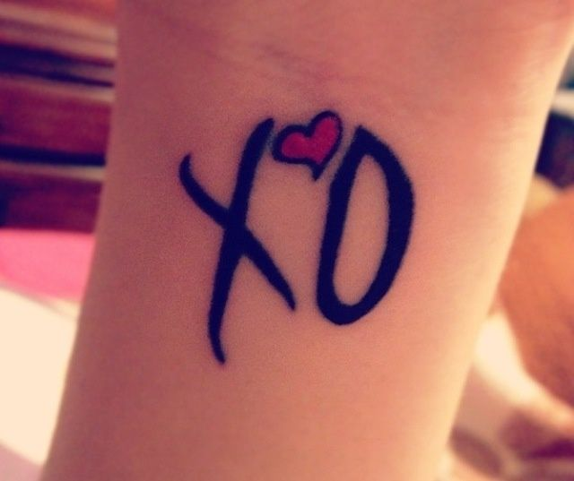 The Weeknd Xo Tattoo Pictures to Pin on Pinterest