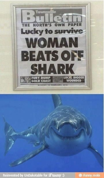 That shark is too happy.... Yuk!