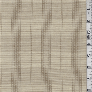 """*3 YD PC--Tan/Brown Plaid Linen - 16096-C1 - Tan & Brown Plaid Medium Weight Linen Fabric Suitable for Dresses, Slacks & Suits 100% Linen 60"""" wide Hand Wash Cold or Dry Clean Usually $25.00/yd now $26.50"""