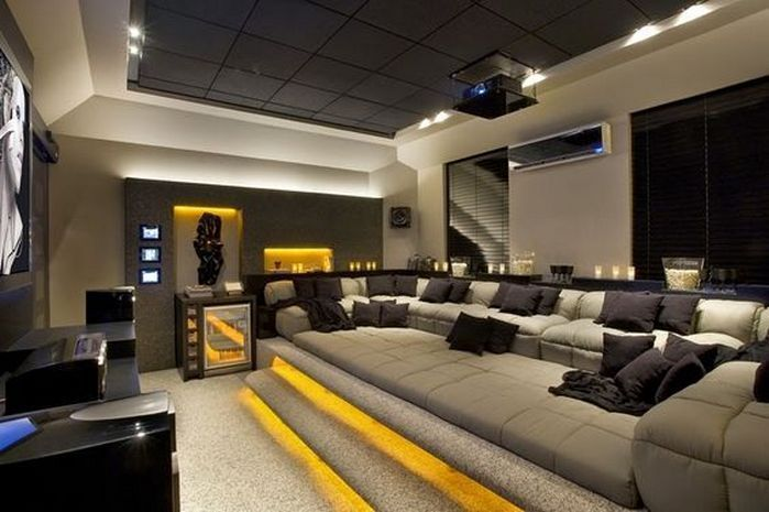 50 Home Theater Room Ideas 45 Hometheaterprojector Theaterroomdecor