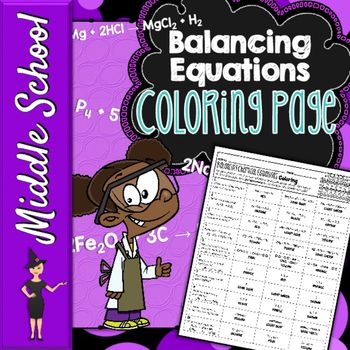 Balancing Chemical Equations Coloring Page Equation Chemistry