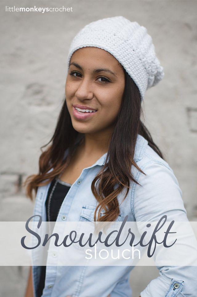 Snowdrift Slouch Crochet Hat | Free Slouchy Hat Crochet Pattern by ...