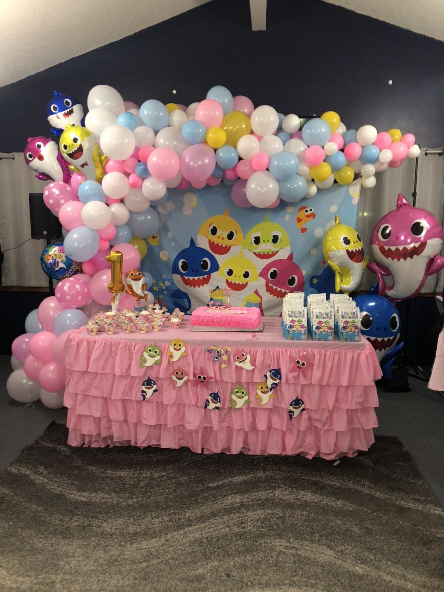 Baby shark birthday party 2nd birthday party for girl