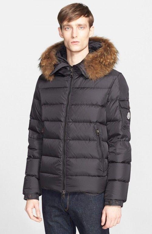 e9749e86e Moncler Men's Byron Down Jacket with Genuine Coyote Fur Trim | Coat ...